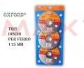 kit dischi per smerigliatrice 115 mm