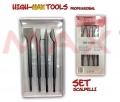 set scalpelli 4 pz con attacco sds plus